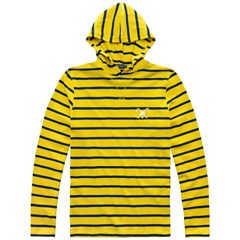 Blusao Malhao Striped Tm Capuz 21i07346 - Old Gold