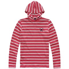 Blusao Malhao Striped Tm Capuz 21i07346 - Rouge Red