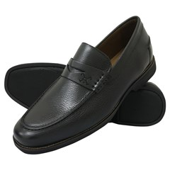 Sapato Polo Play Casual Mocassim Floater Preto