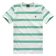 T-Shirt Striped Infantil Mc 07109 - Eletric Green